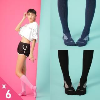 【Footer除臭襪】Y系列中統運動機能輕壓力襪6雙入-厚底(T105M三色任選)