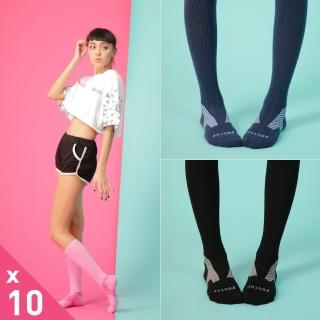 【Footer除臭襪】Y系列中統運動機能輕壓力襪10雙入-厚底(T105M三色任選)