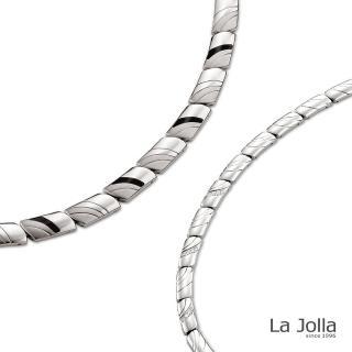 【La Jolla】巴黎戀人 純鈦項鍊(男款-琺瑯)