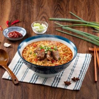 【滿漢大餐】蔥燒牛肉麵3入/袋(蔥燒提味 香辣濃郁)