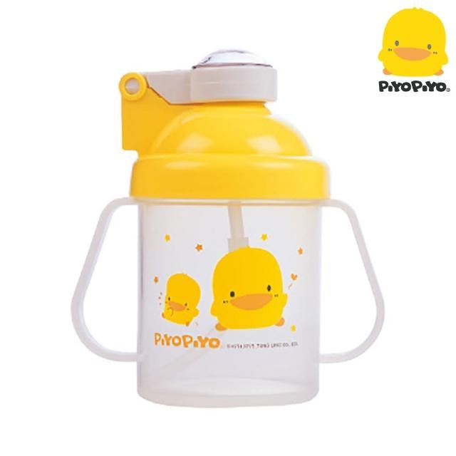 【黃色小鴨PiyoPiyo】彈跳吸管練習杯-透明蓋(250ml)評測