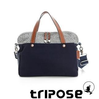 【tripose】漫遊系列岩紋玩色兩用手提背包(海軍藍)