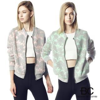 【法國BC】胡小禎代言-空氣針織緹花拉鍊外套(粉/綠任選)