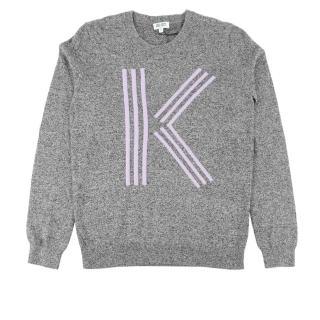 【KENZO】K LOGO長袖上衣(灰色)