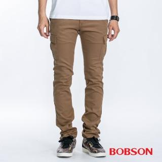 【BOBSON】男款貼袋伸縮直筒褲(1769-72)