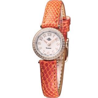【玫瑰錶 Rosemont】茶香玫瑰系列超薄時尚錶(TRS010-05RG-LE-OR)