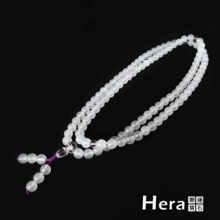 【Hera赫拉】頂級冰種清透白玉髓(唸珠/108顆)