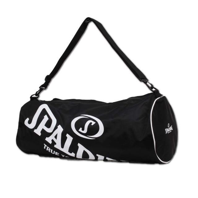 【SPALDING】三顆裝球袋-斯伯丁 籃球 側背包 手提袋 收納袋 行李袋(黑白)