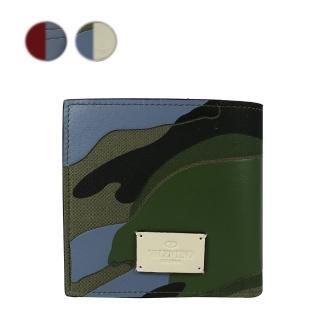 【VALENTINO】軍綠迷彩8卡零錢袋短夾(2色)