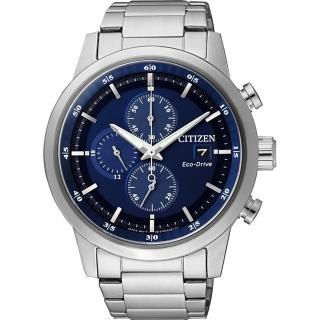 【CITIZEN】Eco-Drive光動能城市計時碼錶-藍/ 43mm(CA0610-52L)