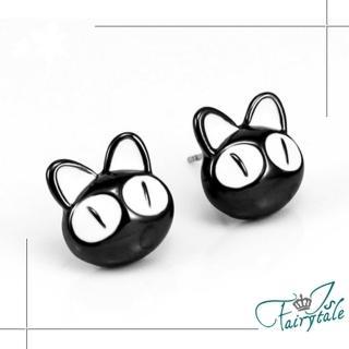 【伊飾童話】任選-卡通黑貓*俏皮童趣耳環