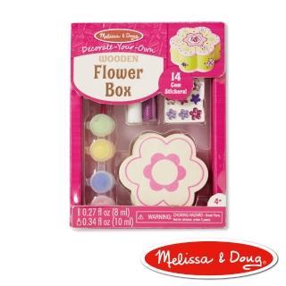 【美國瑪莉莎 Melissa & Doug】DIY手作 - 木製花形珠寶盒