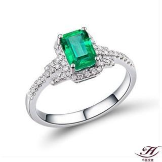 【禾美珠寶】舉止優雅天然祖母綠鑽戒YS191(18K)
