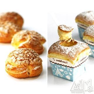 【奧瑪烘焙】北海道牛奶戚風蛋糕x8入+岩石泡芙x16入