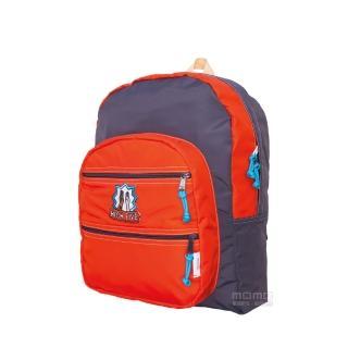 【MOKUYOBI】L.A 空運繽紛旅行必備多功能筆電後背包 - 橘紅色(Big Pocket)