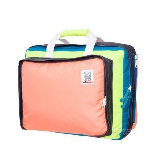 【MOKUYOBI】L.A 空運繽紛多功能筆電手提後背包 - 粉橘色(Bedford Bag)