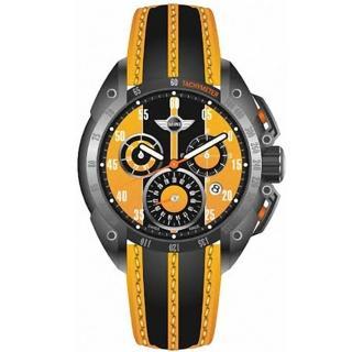 【MINI Swiss Watches】黃色小鋼砲時尚男用三眼腕錶(MINI-160111)