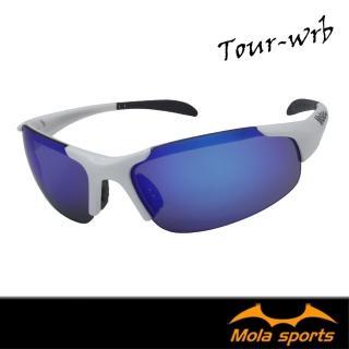 【MOLA】MOLA摩拉兒童8-12歲運動太陽眼鏡 白色 多層彩色鍍膜鏡片 UV400 男女 跑步高爾夫 自行車 Tour-wrb