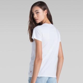 【LEVIS】女款短袖LOGO T恤 / 白色 / 延續款-人氣新品
