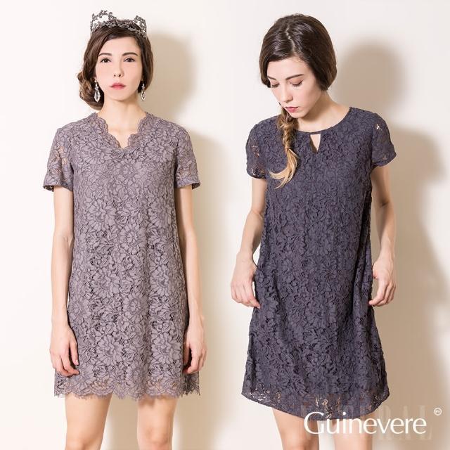 矜蘭妃-蠶絲骨線蕾絲洋裝-1入新品上市