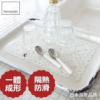 【日本YAMAZAKI】Kirie典雅雕花隔熱餐墊(白)