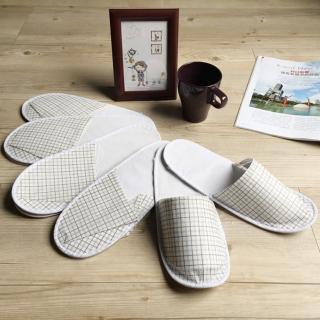 【iSlippers】輕便格紋紙拖鞋(5雙組)
