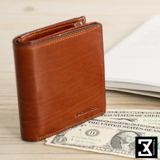 【74盎司】Maroon側拉零錢短夾(N-520)