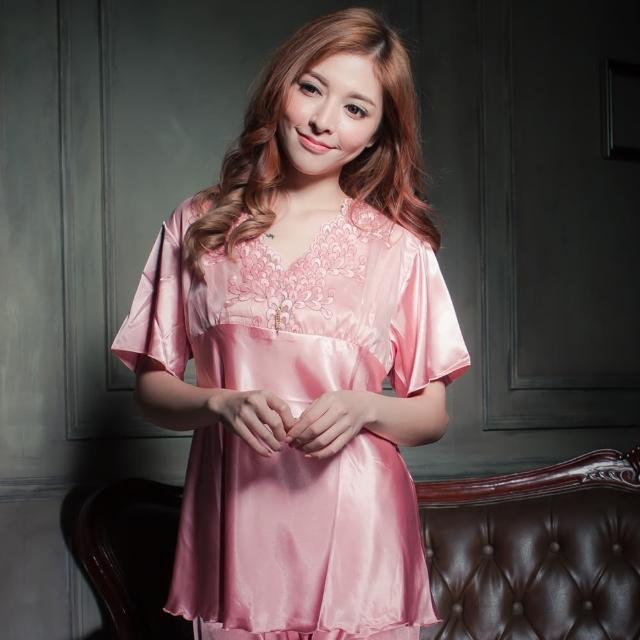 【Beauty's Secret】SK9060輕甜美感冰絲衣褲組(淺粉)