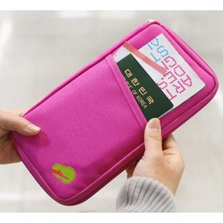 【JIDA】多功能旅遊收納護照包 隨手包(長版 4色)
