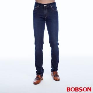【BOBSON】男款低腰高彈力直筒褲(1816-53)