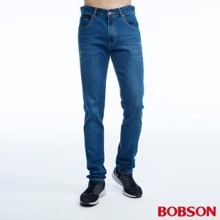 【BOBSON】男款低腰涼爽紗直筒褲(1823-53)