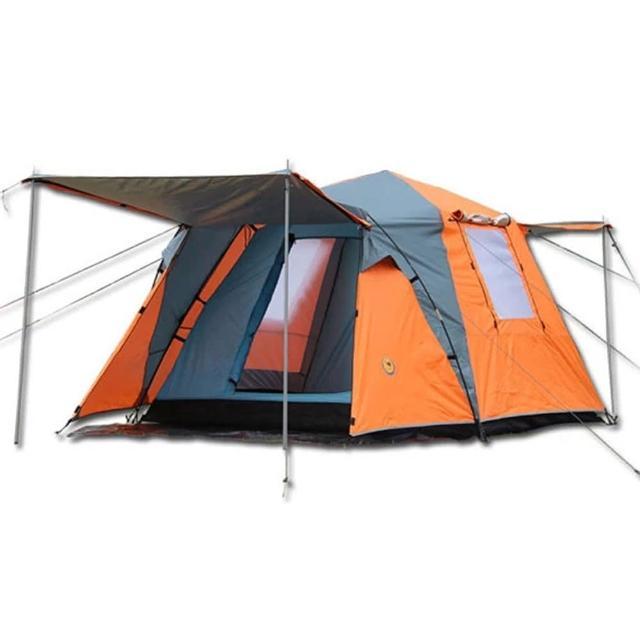【PUSH!戶外休閒登山用品】加大加寬式4人四季專業型帳篷(二色可選P11)