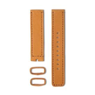 【22】植揉皮革車線錶帶-焦糖色/20mm(22-LS01300)