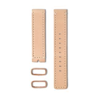【22】植揉皮革車線錶帶-裸色/20mm(22-LS01100)