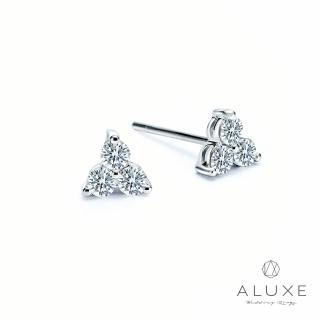 【A-LUXE 亞立詩】18K金 總重40分雪花鑽石耳環