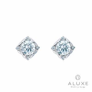 【A-LUXE 亞立詩】18K金 主鑽0.60克拉城堡鑽石耳環