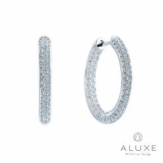 【A-LUXE 亞立詩】18K金 大圈圈鑽石耳環(直徑2CM)