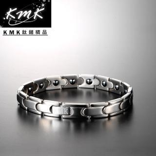 【KMK鈦鍺精品】風速迴旋(純鈦+磁鍺健康手鍊)