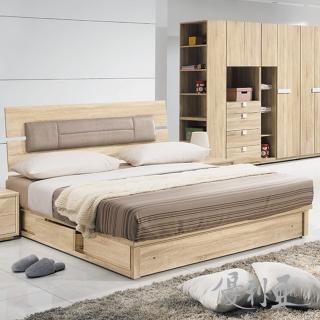 【優利亞-朵莉絲靠墊型】雙人5尺床頭片+抽屜床底