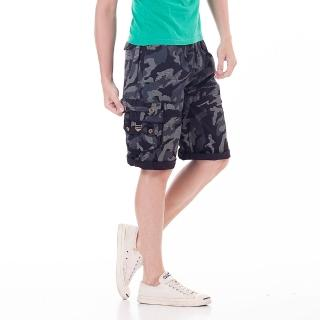 【EXPOSE】美式貼袋鬆緊休閒短褲(共三色)