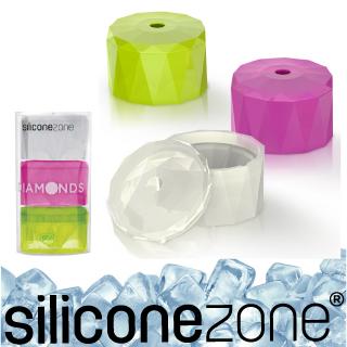 【Siliconezone】施理康耐熱鑽石造型巧克力模/冰模(3入裝)