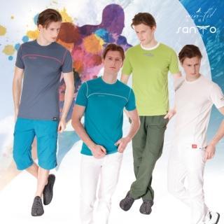 【SANTO】win-fit 星空系列運動衫(4入綠白款)