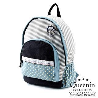 【DF Queenin日韓】日系海洋水手風帆布款後背包(共2色)