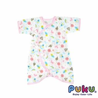 【PUKU藍色企鵝】印花紗布蝴蝶裝60cm(粉色)