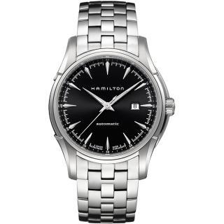 【Hamilton】漢米爾頓 Viewmatic 紳士大三針機械腕錶-黑x銀/44mm(H32715131)