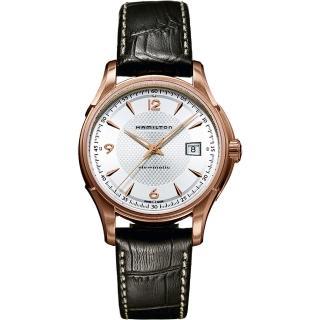 【Hamilton】漢米爾頓 Viewmatic 紳士大三針機械腕錶-玫瑰金框x咖啡/40mm(H32645555)