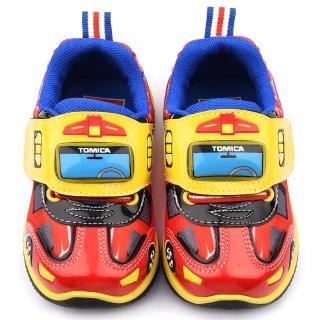 【童鞋城堡】Tomica多美小汽車 中童 消防車電燈運動鞋(TM7792-紅)