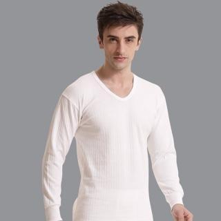 【Pierre Cardin】台灣製100%遠紅外線時尚純棉毛長袖U領衛生衣 盒裝(2件組)
