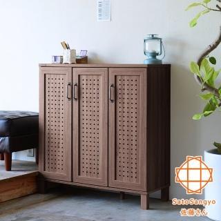 【Sato】GENKA時間絮語三門鞋櫃-幅87cm(鞋櫃)
