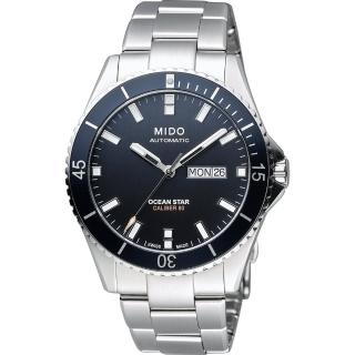 【MIDO】Ocean Star 水鬼 Caliber 80 200m潛水機械腕錶-黑x銀(M0264301105100)